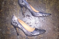 Silver glitter after party pumps, 2005