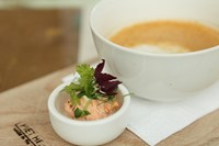 Lobster bisque at the PHE restaurant