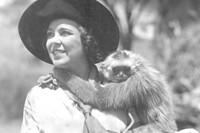 Osa Johnson with Wah Wah the gibbon