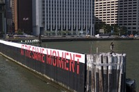 Lawrence Weiner, Outdoor project sponsored by Creative Time
