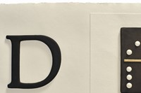 """D, Detail of the letter """"D"""" from A B C Art (Low Relief) A/An"""