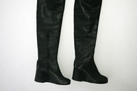 Thigh high Tabi wedge boots, 2001