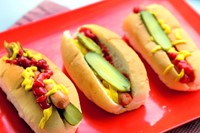 Classic American dog with lashings of French's mustard and H