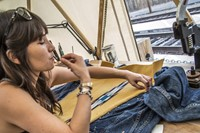 Laura Sato, part of the Levi's Makers team in Winslow
