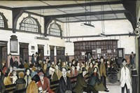 L. S. Lowry, Ancoats Hospital Outpatients' Hall 1952