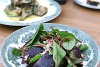 Roasted beets and red chard at Great Court