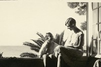 Paulette with her eldest son, Jean-Pierre, 1932