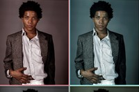 Jean Michel Basquiat fashion style studio Richard Corman