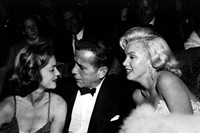 Lauren Bacall, Humphrey Bogart and Marilyn Monroe, circa 195