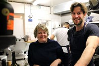 Claire Roberson and chef Matthew Young