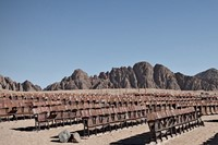 Abandoned cinema in the Sinai Desert