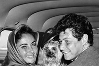 Singer Eddie Fisher and actress Elizabeth Taylor share the l