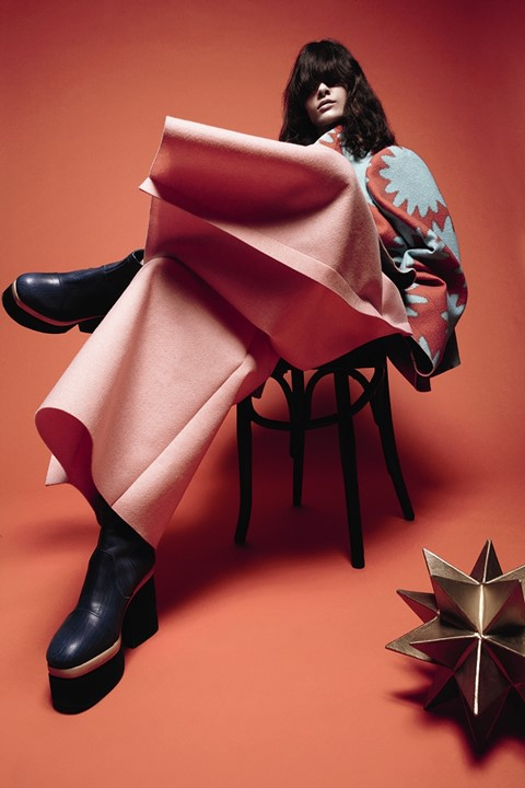 Comme des Garçons with shoes by Simona Vanth, AnOther Magazi