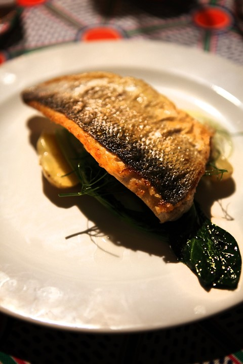 Sea bass with fennel and sour rye potatoes