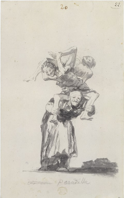 Francisco de Goya, Pesadilla (Nightmare)