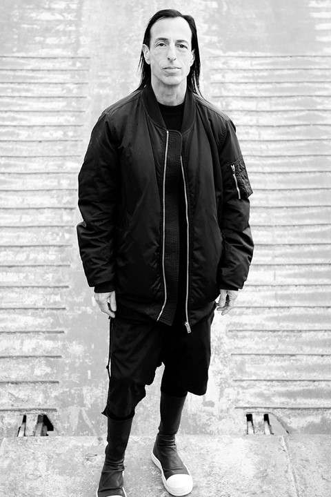 Rick Owens aboard the Bargenale