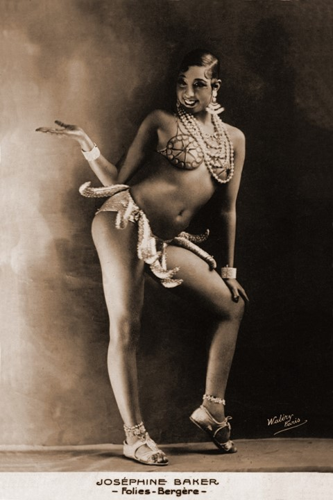 Josephine Baker dancing at the Folies-Bergère, Paris