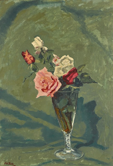 Winston-Churchill,-Roses-in-a-Vase