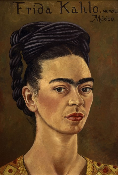 Kahlo_Frida_Self-Portrait_with_Red_and_Gold_Dress_