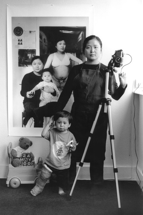 """Annie Wang, """"My son's leg was in plaster,"""" 2003"""