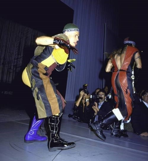Anthony Kiedis and Flea at amFAR, 1992