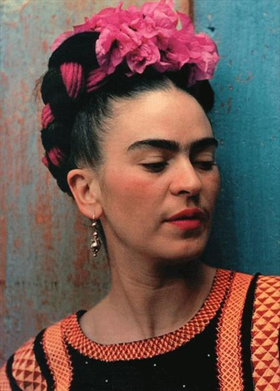 Frida Kahlo and flowers