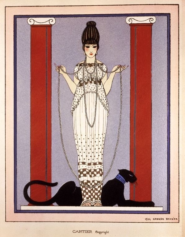 Women With Panther by George Barbier