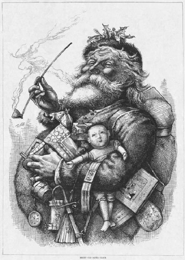 Santa Claus illustrated by Thomas Nast, 1862
