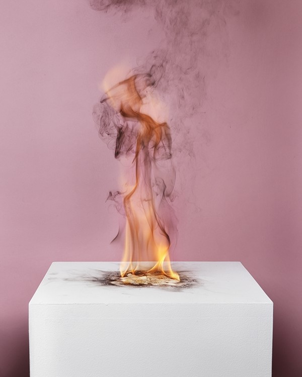 Michael Bühler-Rose: Camphor Flame on Pedestal (0433), 2010