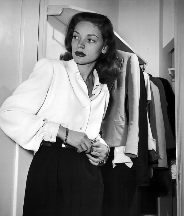 Lauren Bacall at Gotham Hotel, 1945