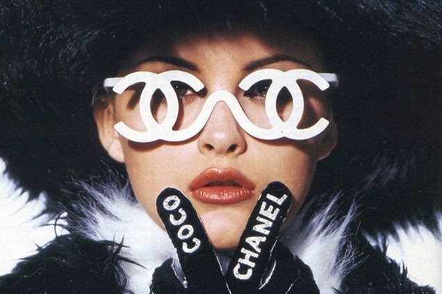 d02c969f8a6b Trish Goff Wearing Monogrammed Chanel Glasses for A/W94 | AnOther