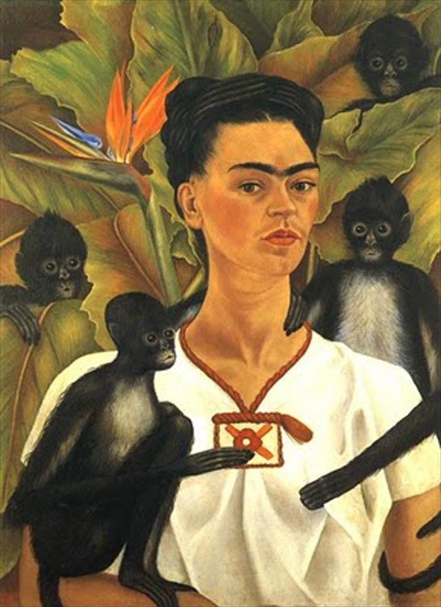 Self Portrait with Monkeys by Frida Kahlo, 1943