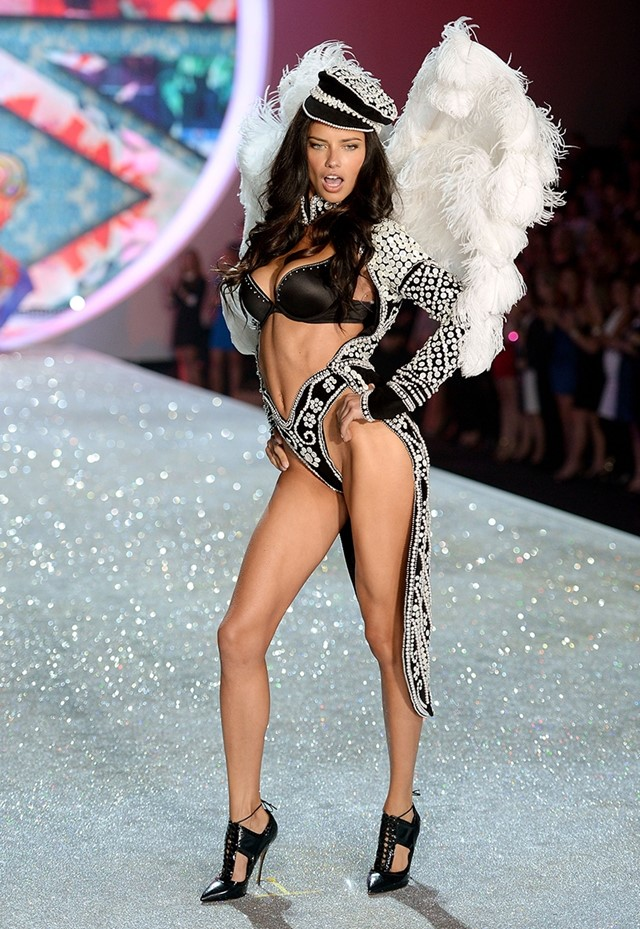 Adriana Lima at the Victoria's Secret Fashion Show 2013