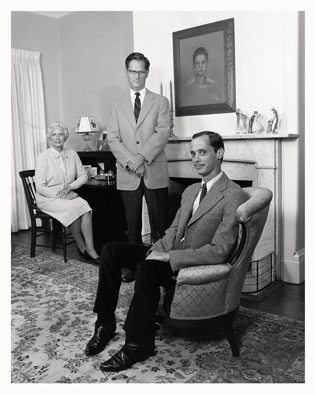John Waters with his parents, 1979
