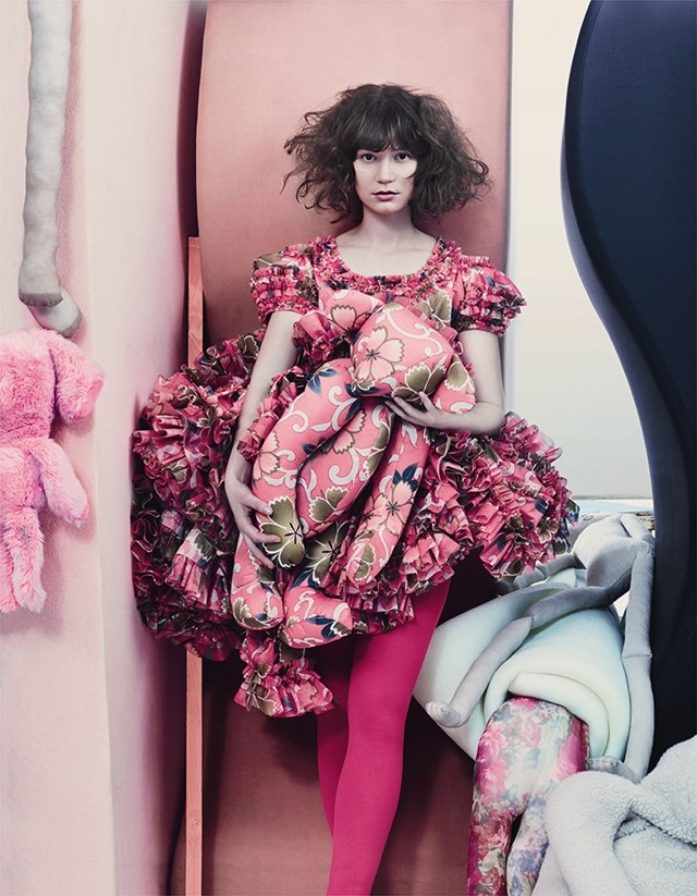 Mia Wasikowska in Comme des Garçons for AnOther Magazine S/S