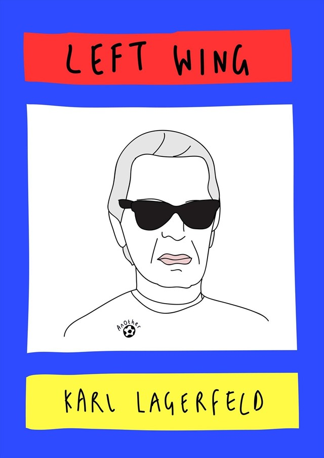 Karl Lagerfeld as left wing