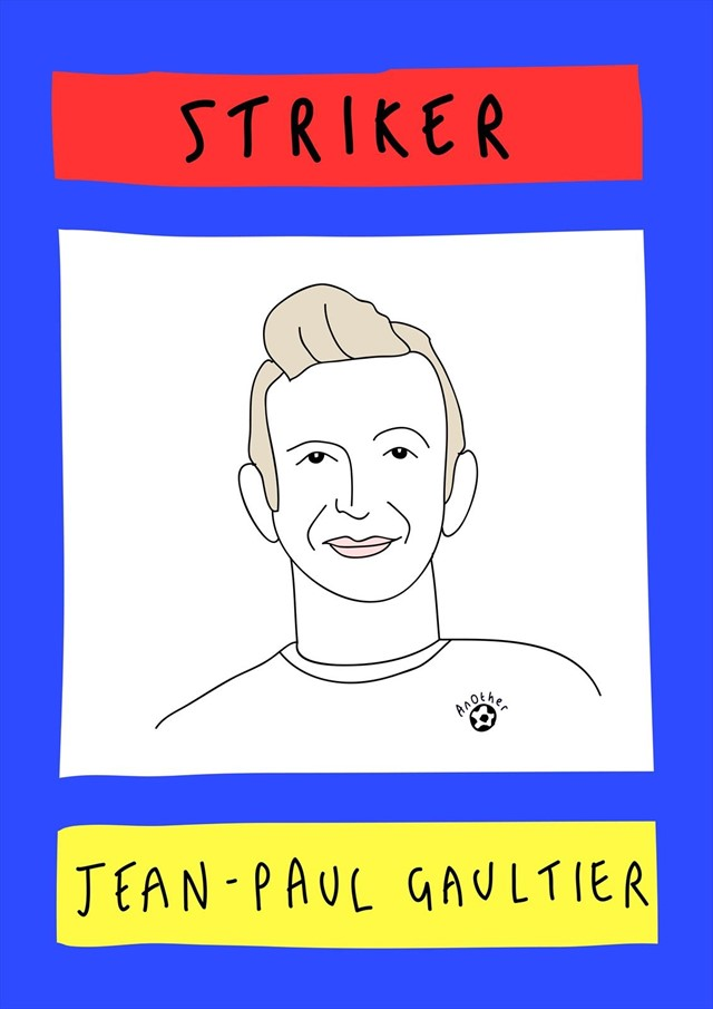 Jean Paul Gaultier as striker