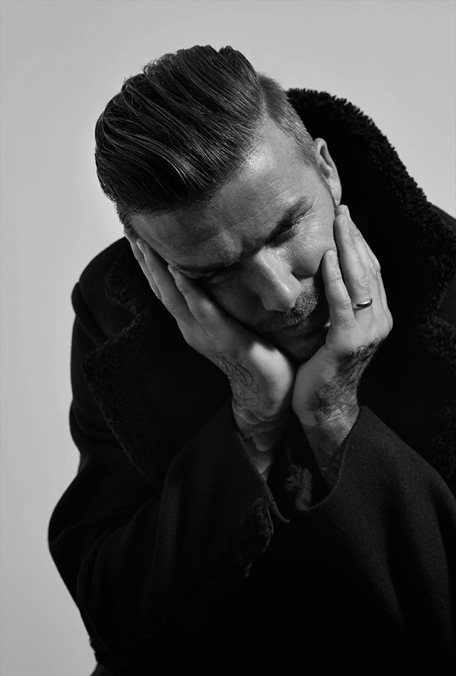 David Beckham in Another Man A/W14