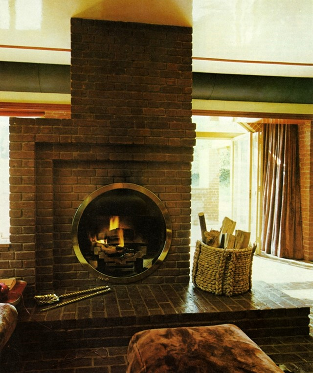 Fireplace by Terence Conran from The House Book, 1976