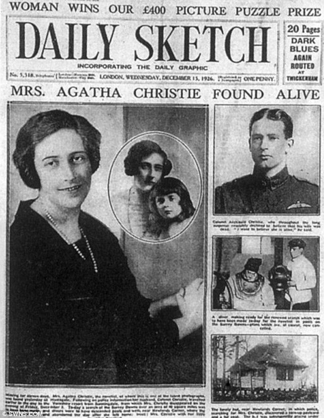 The Daily Sketch front cover, December 15, 1926
