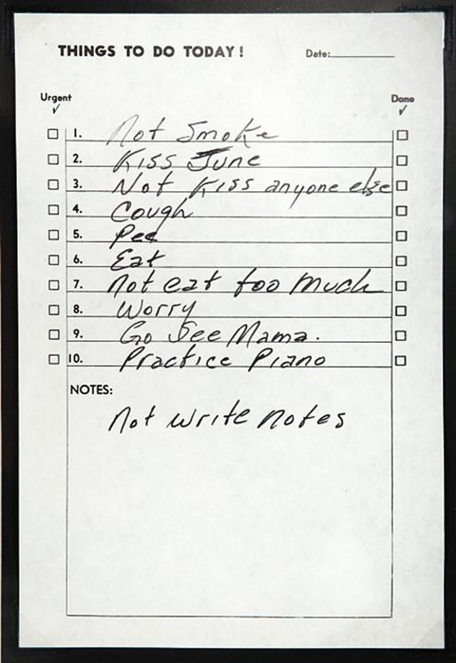 Johnny Cash\'s To Do List | AnOther