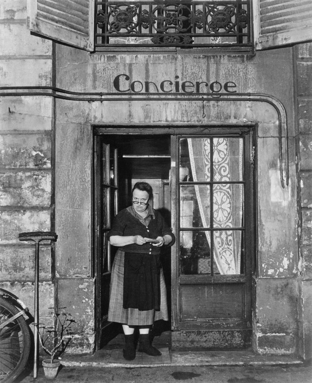 Bespectacled Concierge Rue Jacob, Paris, 1945