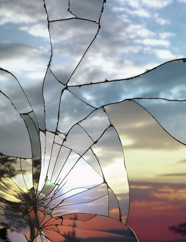 Broken Mirror/Evening Sky (Ektachrome), 2012