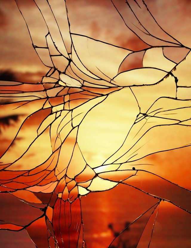 Broken Mirror/Evening Sky (Agfacolor), 2012