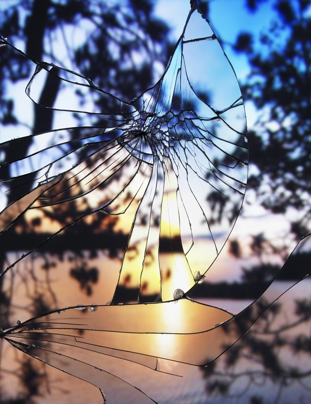 Broken Mirror/Evening Sky (Agfrachrome), 2012