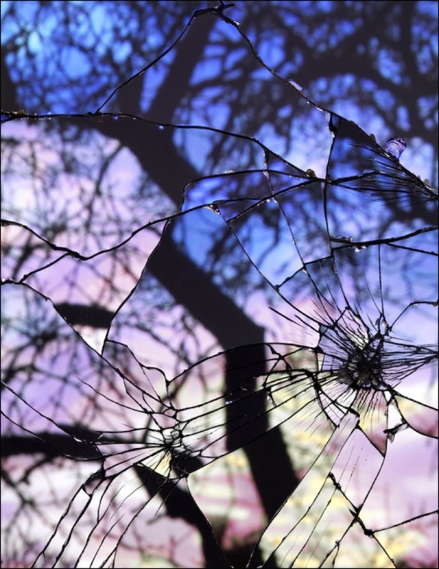 Broken Mirror/Evening Sky (Cibachrome), 2012,