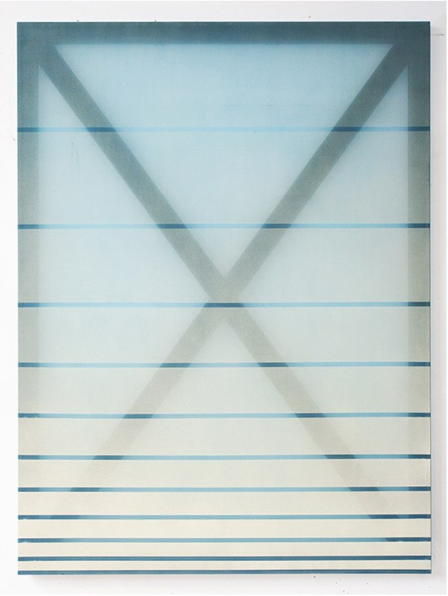 X (cream and blue), 2014