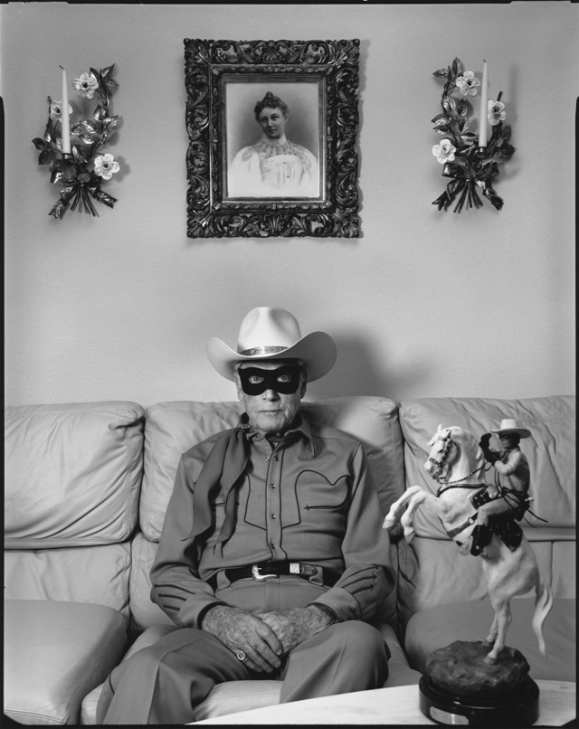 Clayton Moore, the former Lone Ranger, Los Angeles