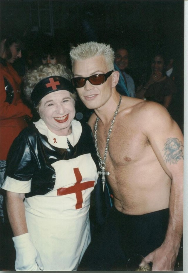 Dr Ruth and Billy Idol at amFAR, 1992