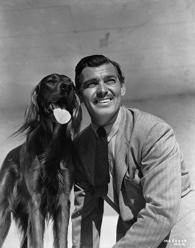 Clark and his dog Photo by Unknown